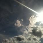 sky sun streak